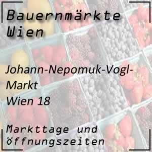 Johann-Nepomuk-Vogl-Markt mit den Markttagen