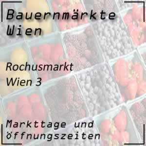 Bauernmarkt Rochusmarkt mit den Öffnungszeiten