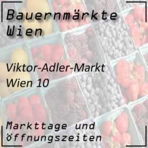Viktor-Adler-Markt mit den Öffnungszeiten