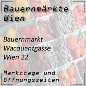 Bauernmarkt Wacquantgasse mit den Öffnungszeiten