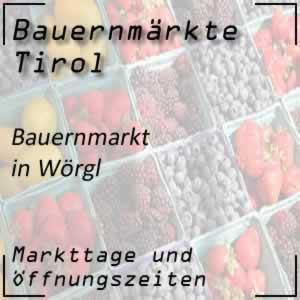 Bauernmarkt Wörgl mit den Öffnungszeiten