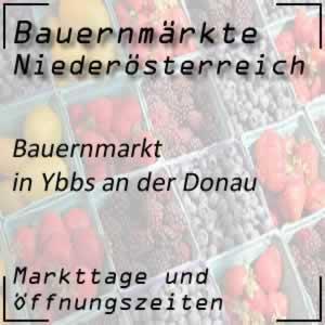 Bauernmarkt Ybbs an der Donau mit den Öffnungszeiten
