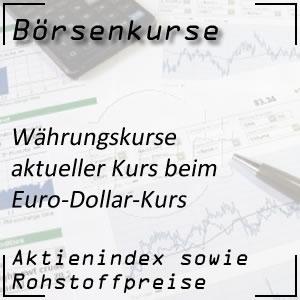 Börsenkurs Euro Dollar Kurs