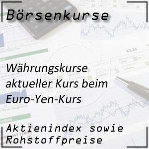 aktueller Börsenkurs Euro Yen Kurs