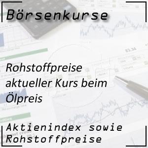aktueller Börsenkurs Rohöl pro Barrel