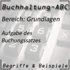 Buchungssatz / Buchung