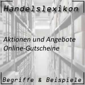 Online-Gutscheine im Handel