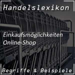 Onlineshop im Handel