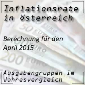 Inflation Österreich April 2015 Inflationsrate