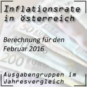Inflation Österreich Februar 2016 Inflationsrate