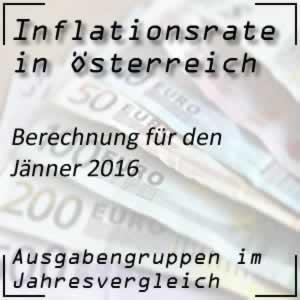 Inflationsrate Jänner 2016