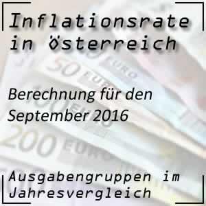 Inflation Österreich September 2016 Inflationsrate