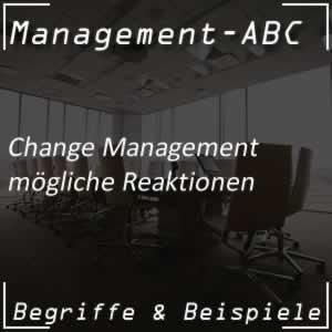Change Management und die Reaktionen