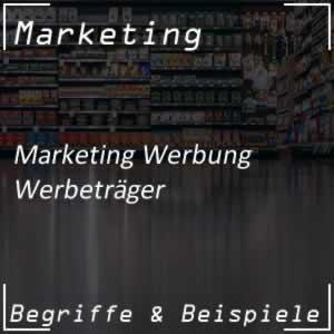 Werbeträger in der Werbung