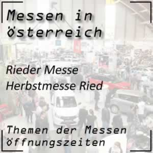 (Sep 19) Rieder Messe (Herbstmesse)