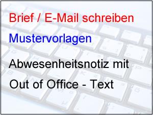 Out of Office Abwesenheitsnotiz schreiben