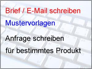 Beispiel Für Produktanfrage Anfrage Produkt Produktanfrage Vorlage