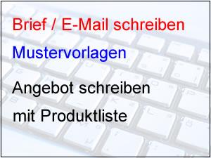 Angebot mit Produktliste