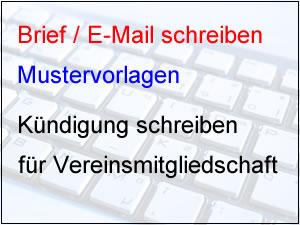 Mustervorlage Kündigung Verein Vereinsmitgliedschaft Kündigen Mit