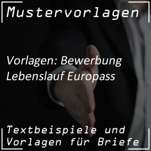 Lebenslauf: Europass