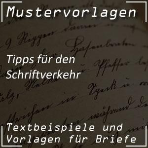 Tipps für den Schriftverkehr