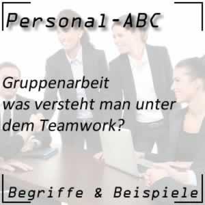Teamwork bei der Gruppenarbeit