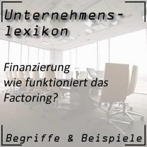 Factoring in der Finanzierung