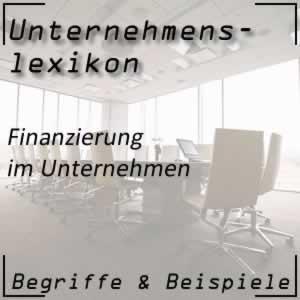 Finanzierung im Unternehmen
