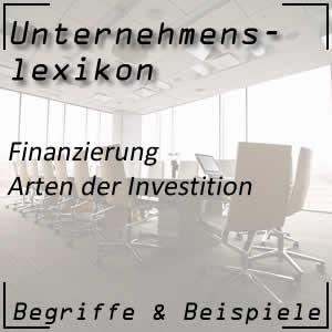 Investition und die Arten der Investition