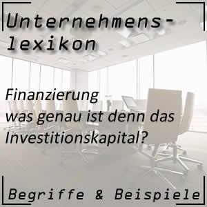 Investitionskapital im Unternehmen