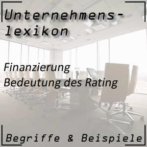 Funktion des Rating bei Unternehmen