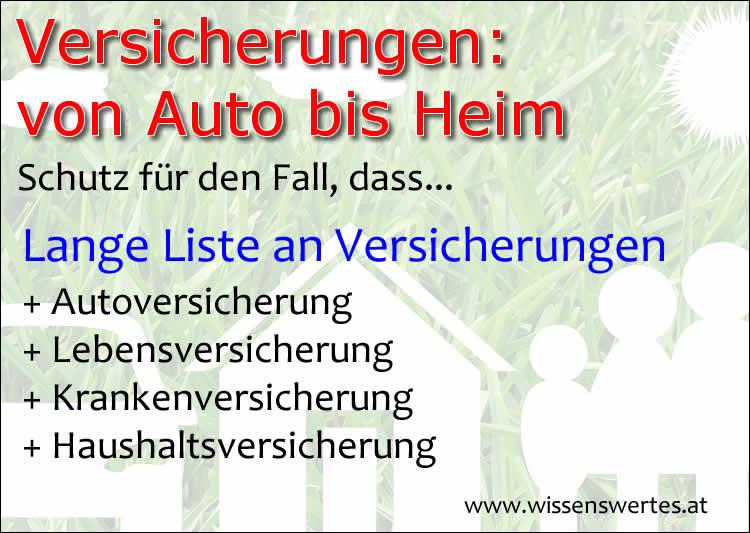 Versicherungslexikon von Auto bis Eigenheim