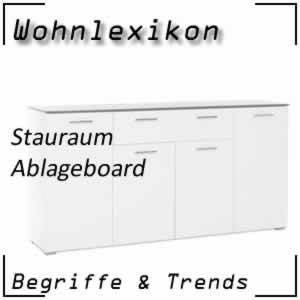 Wohnlexikon Stauraum Ablageboard