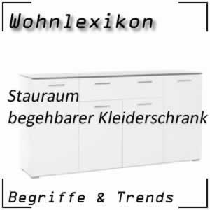 Wohnlexikon Stauraum begehbarer Kleiderschrank