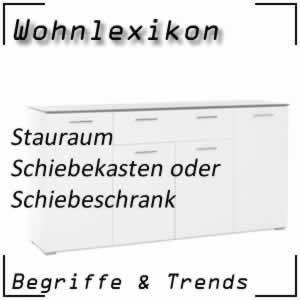 Wohnen Schiebeschrank / Schiebekasten