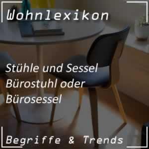 Bürostuhl oder Drehstuhl