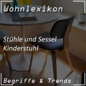 Kinderstuhl mit ergonomischen Details